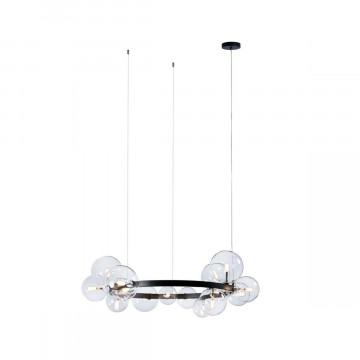Подвесной светильник Loft It Molecule 10023/850, 15xG4, черный, прозрачный, металл, стекло