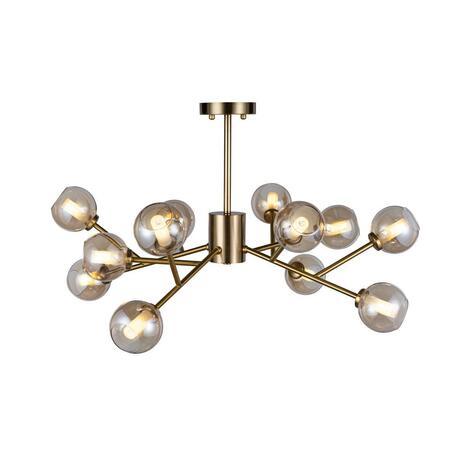 Потолочная люстра Loft It Orion 10020/12, 12xG9x12W, матовое золото, дымчатый, металл, стекло