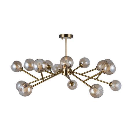 Потолочная люстра Loft It Orion 10020/15, 15xG9x12W, матовое золото, дымчатый, металл, стекло