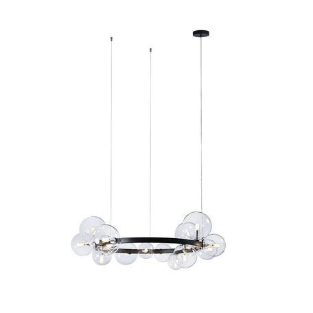 Светильник Loft It Molecule 10023/850, 15xG4, черный, прозрачный, металл, стекло
