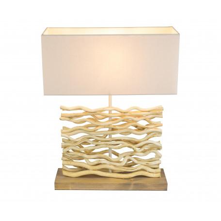 Настольная лампа Globo Jamie 21647, 1xE27x60W, дерево, текстиль