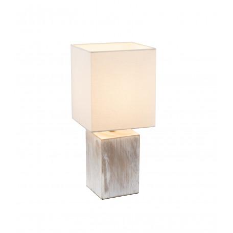 Настольная лампа Globo Ilona 21699, 1xE14x40W, дерево, текстиль