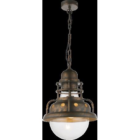 Подвесной светильник Globo Jaden 15013, 1xE27x60W, металл, металл со стеклом
