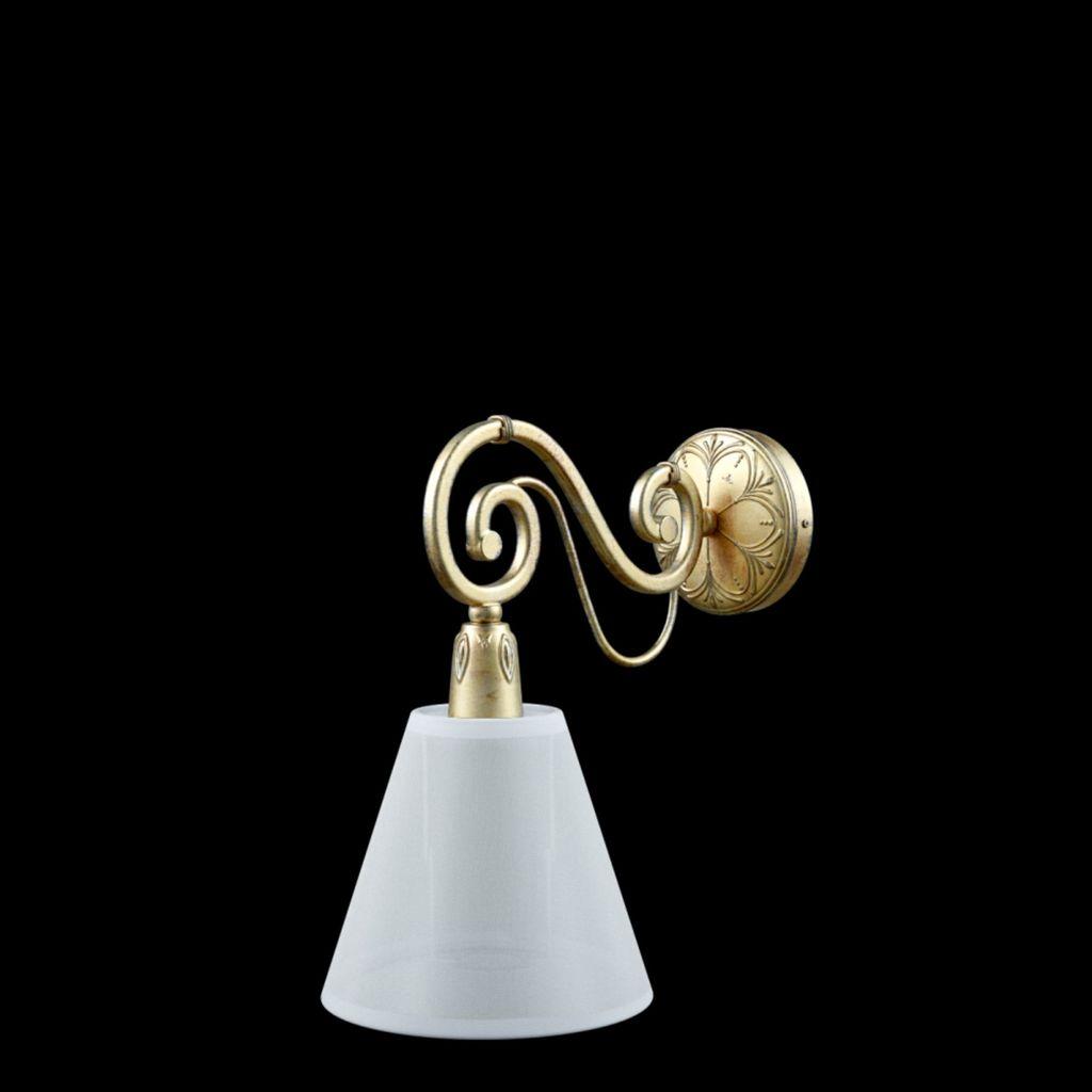 Бра Maytoni Provence 9 E-01-H-LMP-O-20, 1xE14x40W, матовое золото, белый, металл, текстиль - фото 4