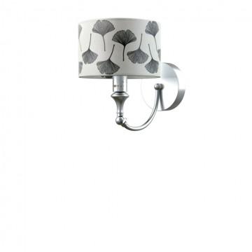 Бра Maytoni Eclectic 5 M-01-CR-LMP-Y-7, 1xE14x40W, матовый хром, белый, серый, металл, текстиль