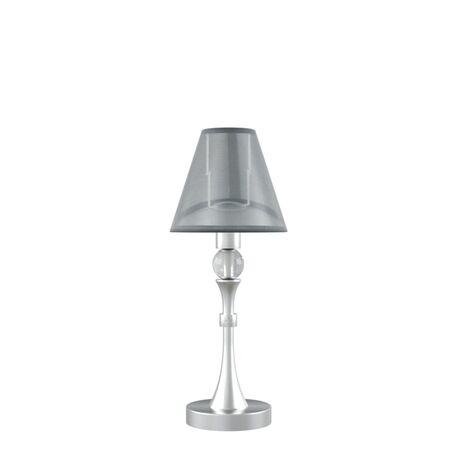 Настольная лампа Maytoni Lamp4You Eclectic 6 M-11-CR-LMP-O-21, 1xE14x40W, матовый хром, черный, металл, текстиль - миниатюра 1