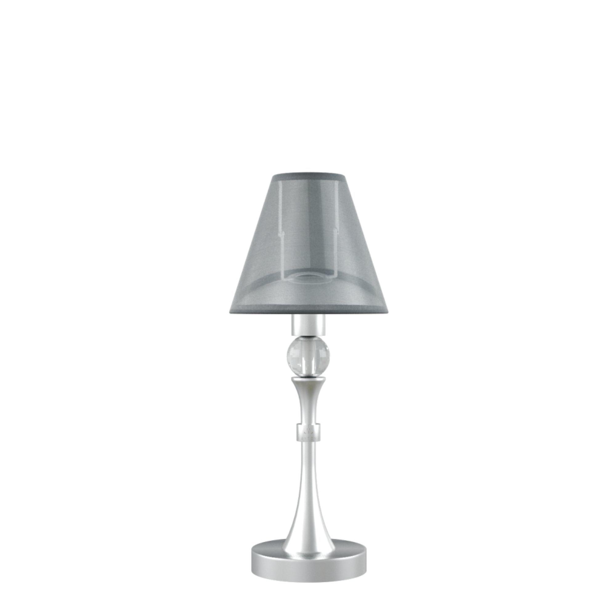 Настольная лампа Maytoni Lamp4You Eclectic 6 M-11-CR-LMP-O-21, 1xE14x40W, матовый хром, черный, металл, текстиль - фото 1