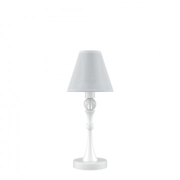 Настольная лампа Maytoni Eclectic 12 M-11-WM-LMP-O-20, 1xE14x40W, белый, прозрачный, металл, текстиль