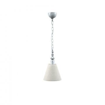 Подвесной светильник Maytoni Lamp4You Classic 9 E-00-G-LMP-O-33, 1xE14x40W, серый, бежевый, металл, текстиль