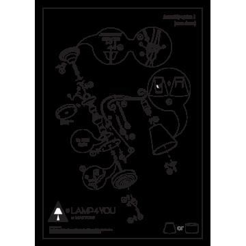 Схема с размерами Maytoni E4-07-H-LMP-O-30-CRL-E4-07-CH-UP