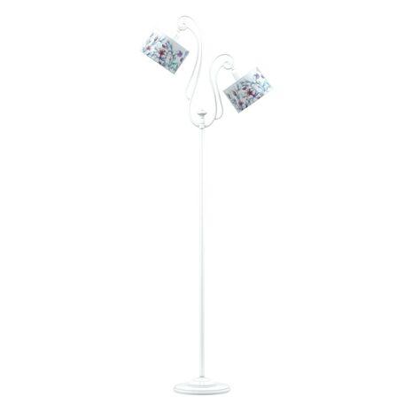 Торшер Maytoni Provence 5 E-02-WM-LMP-Y-13, 2xE14x40W, белый, разноцветный, металл, текстиль
