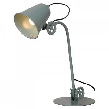Настольная лампа Lussole Loft Kalifornsky LSP-9570, IP21, 1xE14x40W, синий, металл