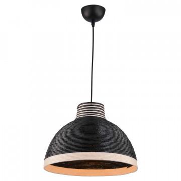 Подвесной светильник Lussole LGO Caldwell LSP-8038, IP21, 1xE27x40W, черный, черно-белый, металл, пластик