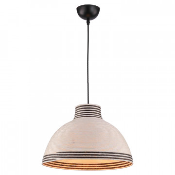 Подвесной светильник Lussole LGO Caldwell LSP-8039, IP21, 1xE27x40W, черный, белый, черно-белый, металл, пластик