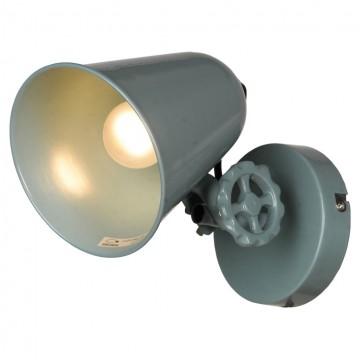 Настенный светильник с регулировкой направления света Lussole Loft Kalifornsky LSP-9571, IP21, 1xE14x40W, синий, металл