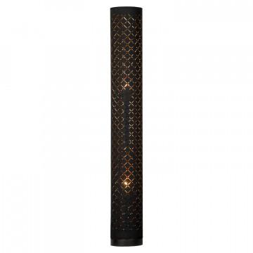 Торшер Lussole Loft Kenai LSP-0550, IP21, 2xE27x40W, черный, металл, текстиль