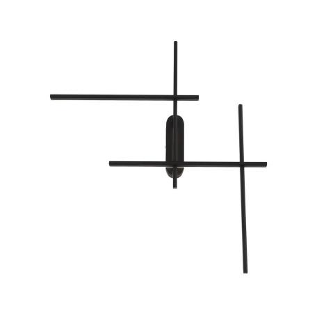 Настенный светодиодный светильник ST Luce Basoni SL394.401.04, LED 36W 4000K 2100lm, черный, металл, металл с пластиком