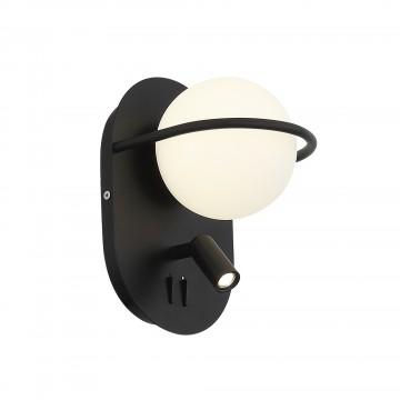 Настенный светодиодный светильник с дополнительной подсветкой ST Luce Donolo SL395.411.02, LED 11W 4000K 467lm, черный, белый, металл, стекло