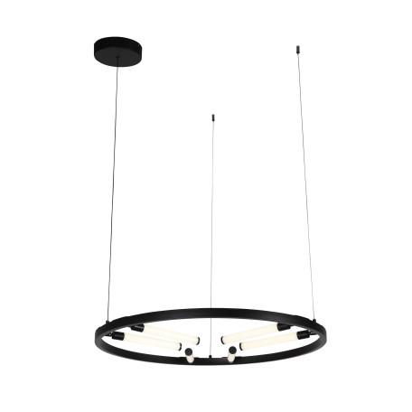 Подвесная светодиодная люстра с регулировкой направления света ST Luce Bisaria SL393.403.06, LED 36W 4000K 2100lm, черный, металл, металл с пластиком