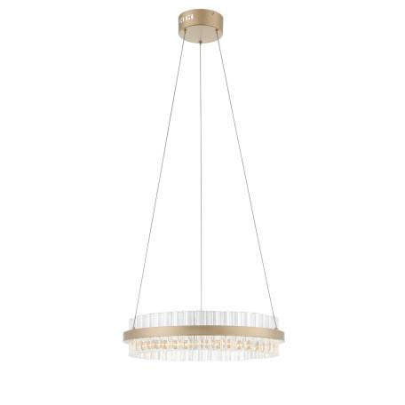 Подвесной светодиодный светильник ST Luce Cherio SL383.203.01, LED 34W 4000K 1983lm, матовое золото, прозрачный, металл, металл с хрусталем