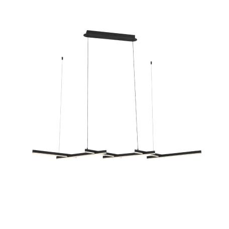 Подвесной светодиодный светильник ST Luce Basoni SL394.403.06, LED 84W 4000K 4900lm, черный, металл, металл с пластиком
