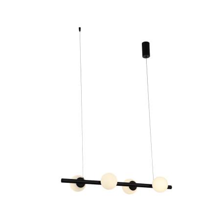 Подвесной светодиодный светильник ST Luce Donolo SL395.403.04, LED 32W 4000K 1867lm, черный, белый, металл, стекло
