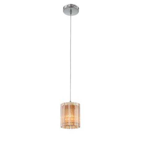 Подвесной светильник ST Luce Versita SL400.103.01, 1xE27x60W, хром, янтарь, металл, стекло