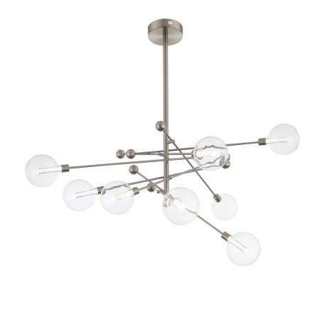 Потолочная светодиодная люстра ST Luce Giacio SL377.302.08, LED 36W 3000K 2160lm, никель, прозрачный, металл, стекло