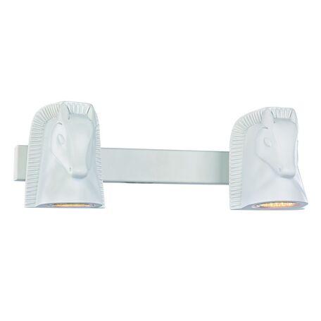 Настенный светильник с регулировкой направления света Favourite Cavallina 2040-2W, 2xGU10x5W, белый, под покраску, металл, гипс