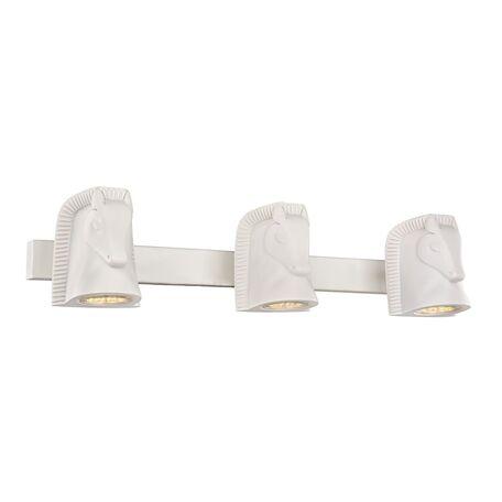 Настенный светильник с регулировкой направления света Favourite Cavallina 2040-3W, 3xGU10x5W, белый, под покраску, металл, гипс