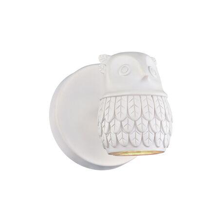Настенный светильник с регулировкой направления света Favourite Gufo 2041-1W, 1xGU10x5W, белый, под покраску, металл, гипс