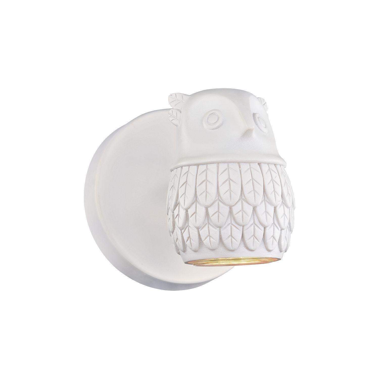 Настенный светильник с регулировкой направления света Favourite Gufo 2041-1W, 1xGU10x5W, белый, под покраску, металл, гипс - фото 1
