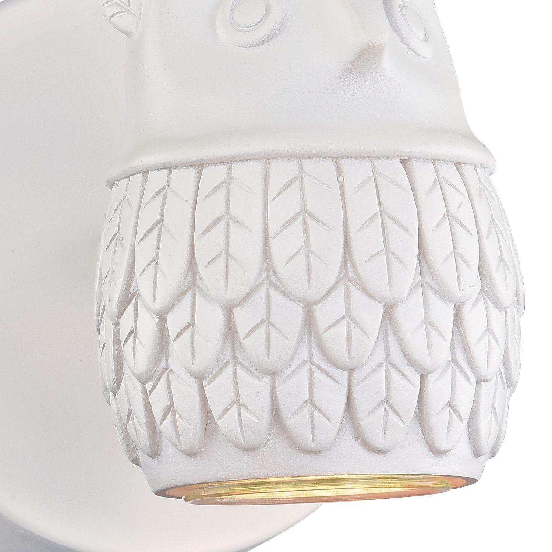 Настенный светильник с регулировкой направления света Favourite Gufo 2041-1W, 1xGU10x5W, белый, под покраску, металл, гипс - фото 3