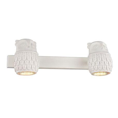 Настенный светильник с регулировкой направления света Favourite Gufo 2041-2W, 2xGU10x5W, белый, под покраску, металл, гипс