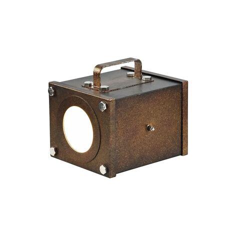 Настольная лампа Favourite Foco 2037-1T, 1xGU10x5W, коричневый, металл, пластик