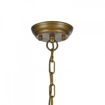 Подвесная люстра с регулировкой направления света Favourite Gambas 2030-7P, 7xE14x40W, коричневый, белый, металл, текстиль - миниатюра 2