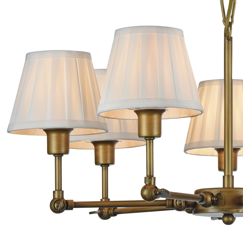 Подвесная люстра с регулировкой направления света Favourite Gambas 2030-7P, 7xE14x40W, коричневый, белый, металл, текстиль - фото 3