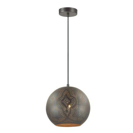 Подвесной светильник Favourite Turnover 1947-1P, 1xE27x60W, черный, металл - миниатюра 1
