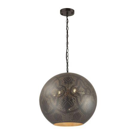 Подвесной светильник Favourite Turnover 1947-7P, 7xE27x60W, черный, матовое золото, металл