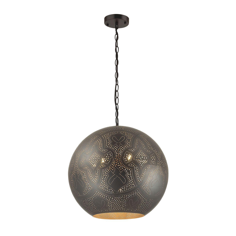 Подвесной светильник Favourite Turnover 1947-7P, 7xE27x60W, черный, матовое золото, металл - фото 1