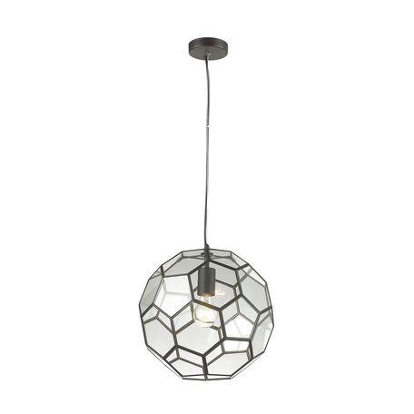 Подвесной светильник Favourite Pila 1950-1P, 1xE27x60W, коричневый, прозрачный, металл, стекло