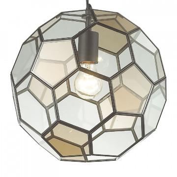 Подвесной светильник Favourite Pila 1951-1P, 1xE27x60W, коричневый, коньячный, прозрачный, металл, стекло - миниатюра 3