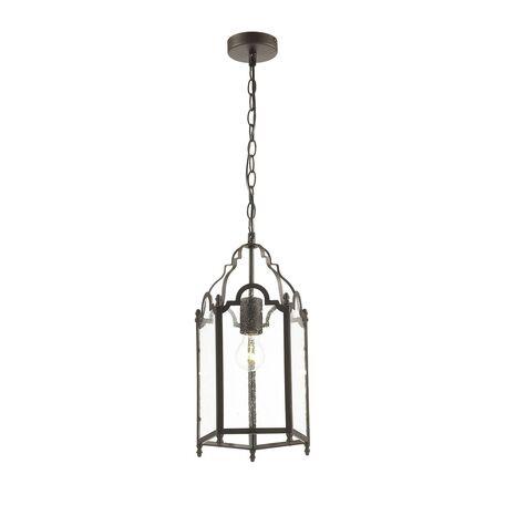 Подвесной светильник Favourite Mirum 1954-1P, 1xE27x60W, коричневый, прозрачный, металл, стекло