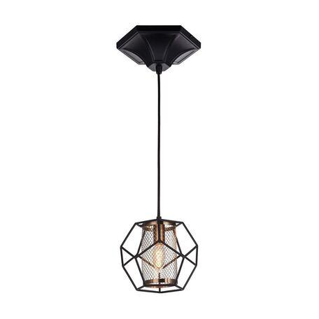 Подвесной светильник Favourite Septum 2038-1P, 1xE27x40W, черный, бронза, металл