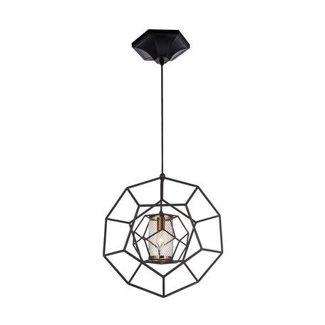 Подвесной светильник Favourite Septum 2039-1P, 1xE27x40W, черный, металл - миниатюра 1
