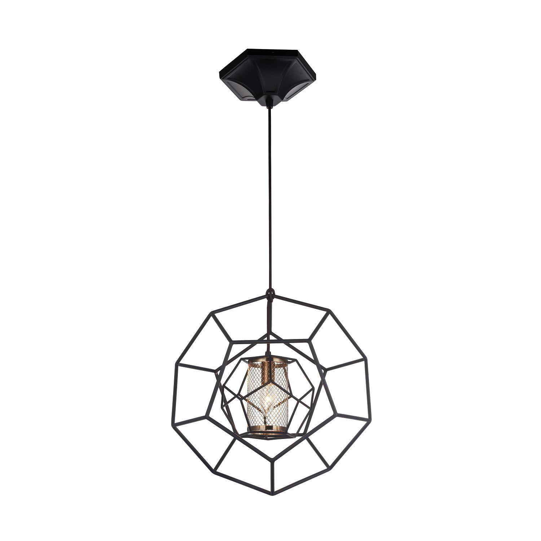 Подвесной светильник Favourite Septum 2039-1P, 1xE27x40W, черный, металл - фото 1