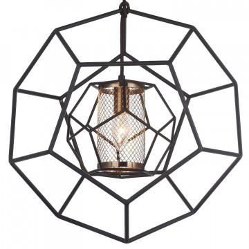 Подвесной светильник Favourite Septum 2039-1P, 1xE27x40W, черный, металл - миниатюра 3