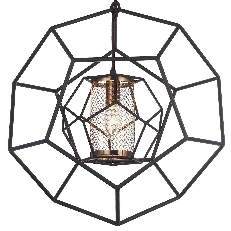 Подвесной светильник Favourite Septum 2039-1P, 1xE27x40W, черный, металл - фото 3
