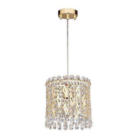 Подвесной светильник Favourite Celebrity 2048-1P, 1xE27x40W, золото, прозрачный, металл, хрусталь