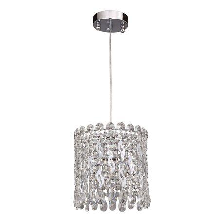 Подвесной светильник Favourite Celebrity 2049-1P, 1xE27x40W, хром, прозрачный, металл, хрусталь